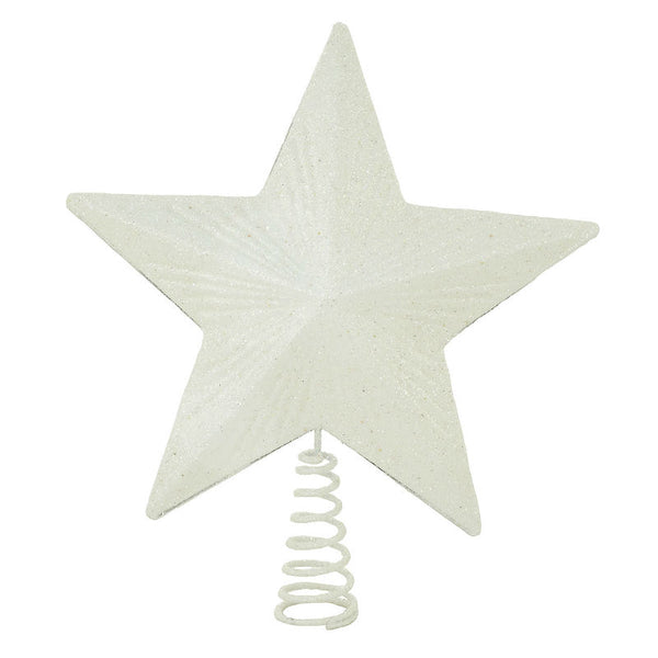 Frosted White Star Christmas Tree Topper 1201922