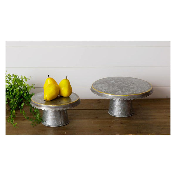 Galvanized and Gold Cake Stands 8T2116