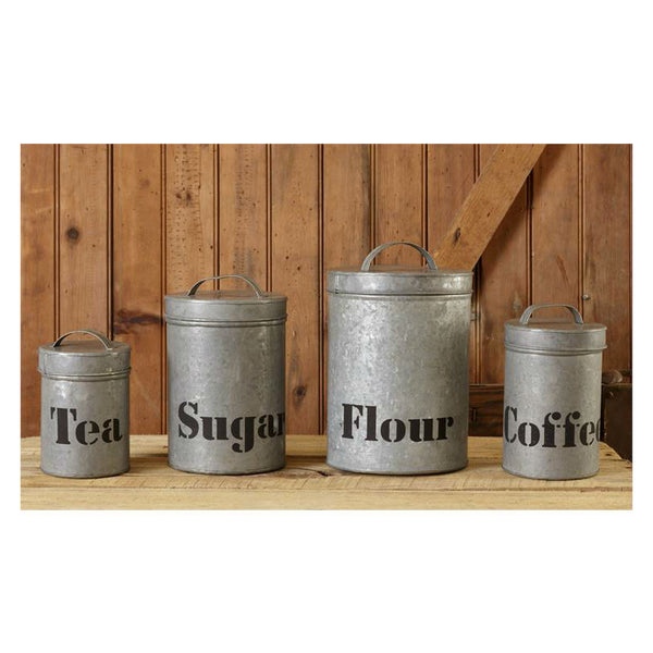 Galvanized Iron Kitchen Canisters 8T1041