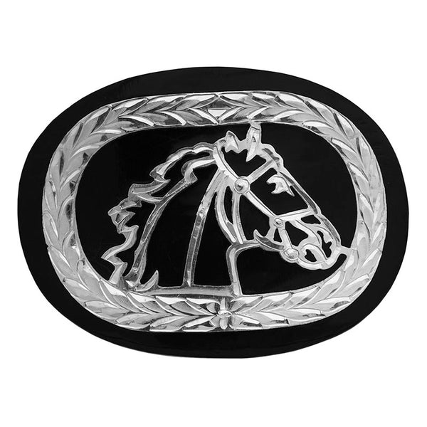 German Silver Horse Head Belt Buckle FR-704