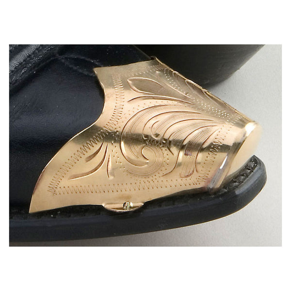 Gold Engraved Boot Toe Tips WX-15