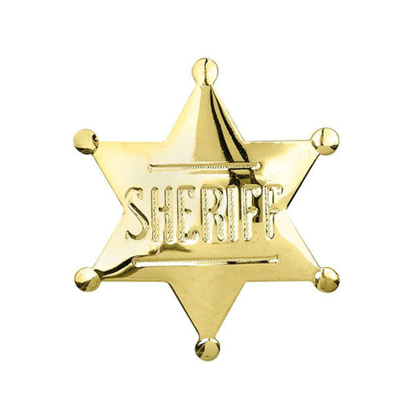 Gold Sheriff Badge Pin P-572-G