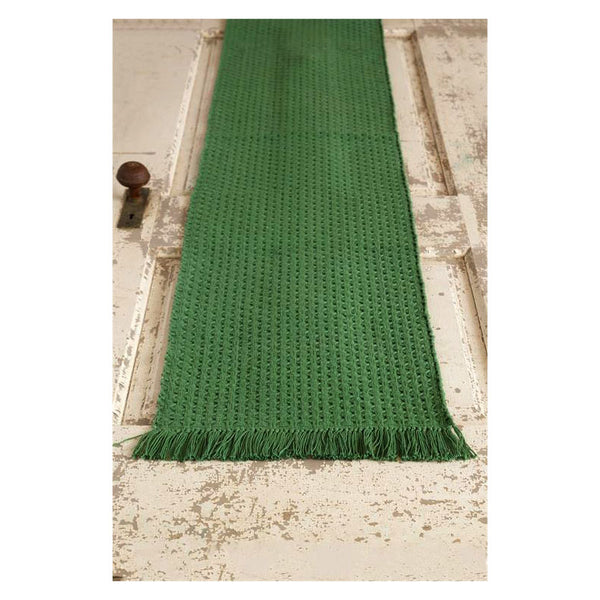Green Woven Table Runner 8FA1167