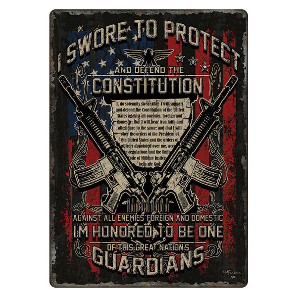 Guardians of Constitution Tin Sign 1437