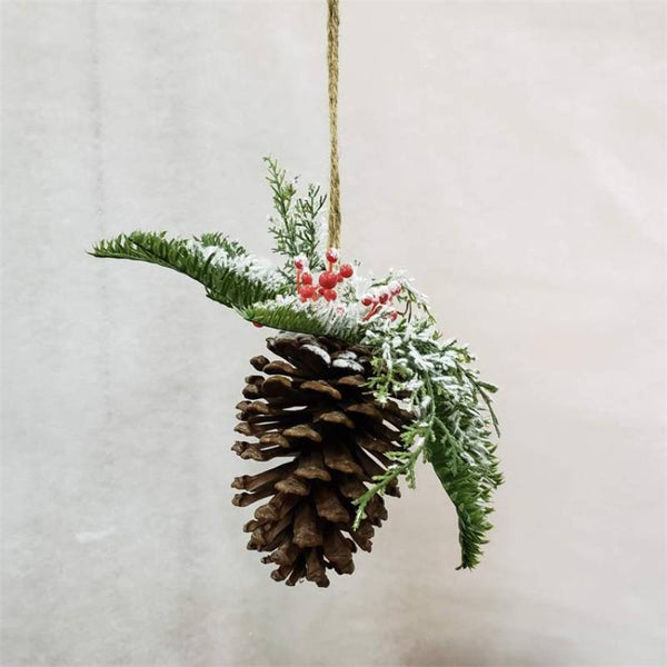 Hanging Pinecone Christmas Ornaments 7F6348