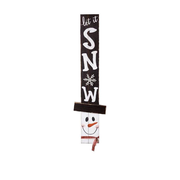 Happy Fall Let It Snow Reverisble Sign 6W2767