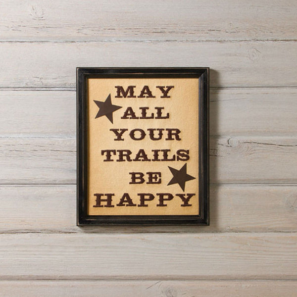 Happy Trails Framed Stitchery 12812