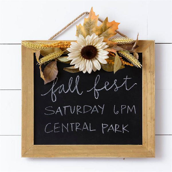 Harvest Framed Hanging Chalkboard Sign 6D4883