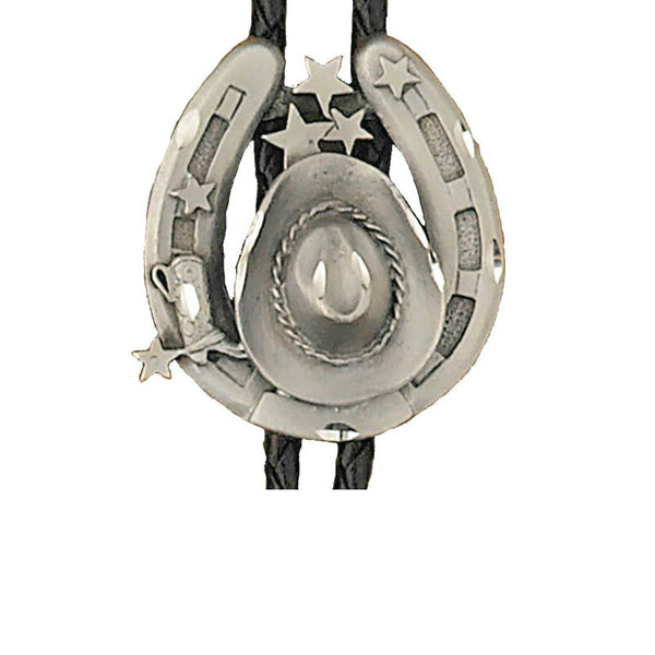 Hats and Horseshoes Bolo Tie BT-145