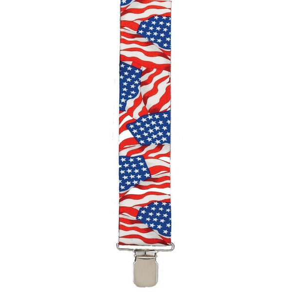 Heavy Duty Old Glory Flag Suspenders SU-42-OLD