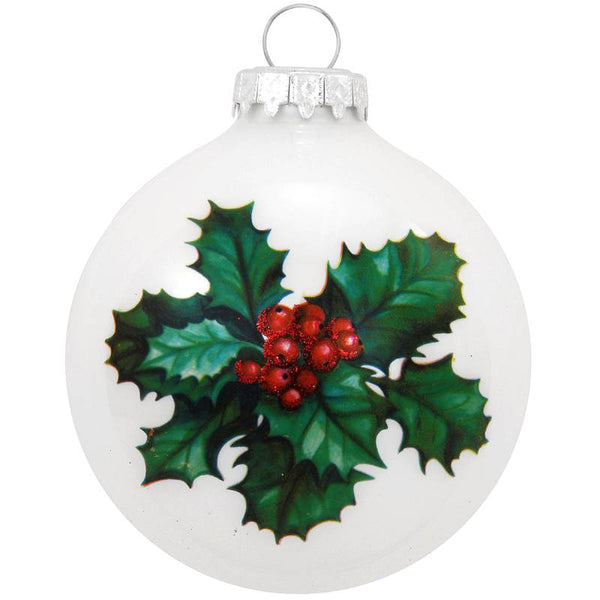 Holly Legend Glass Ornament 1196195