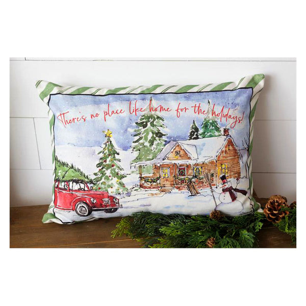 Home For The Holidays Throw Pillow 7P5948