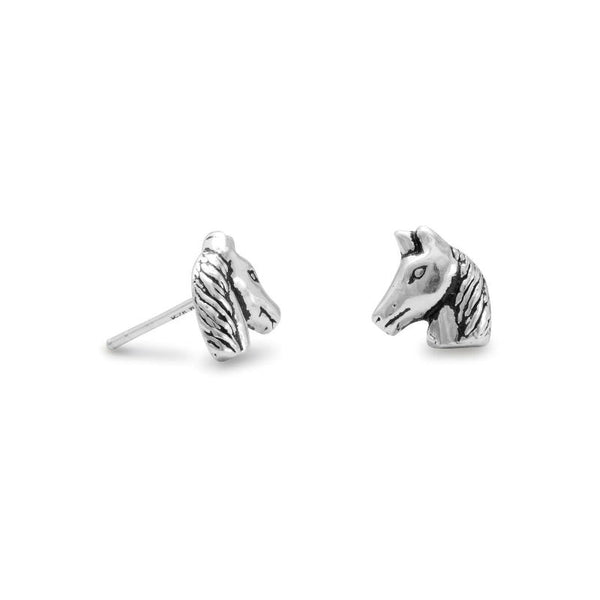 Horse Head Stud Earrings 64410