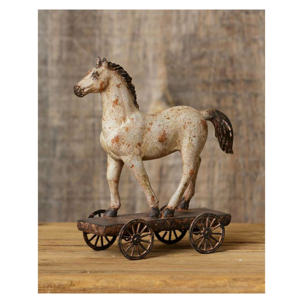Horse On Wheels Figurine 8D4612