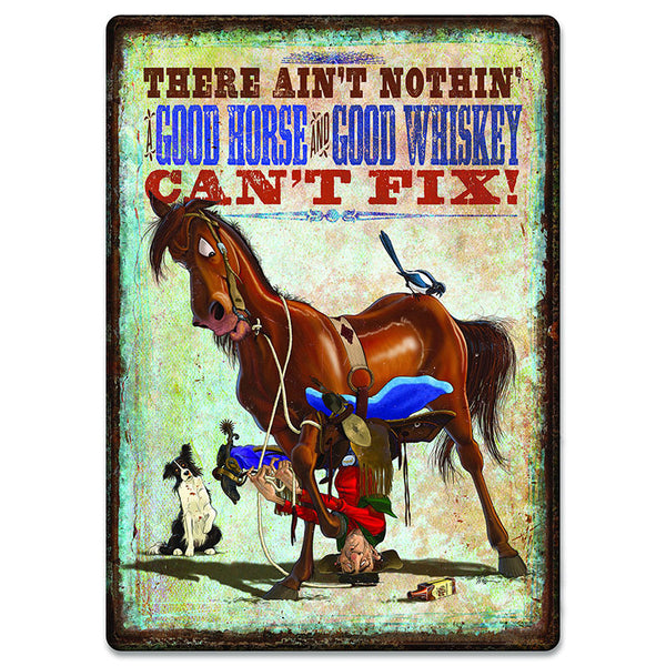 Horse Whiskey Tin Sign 2669