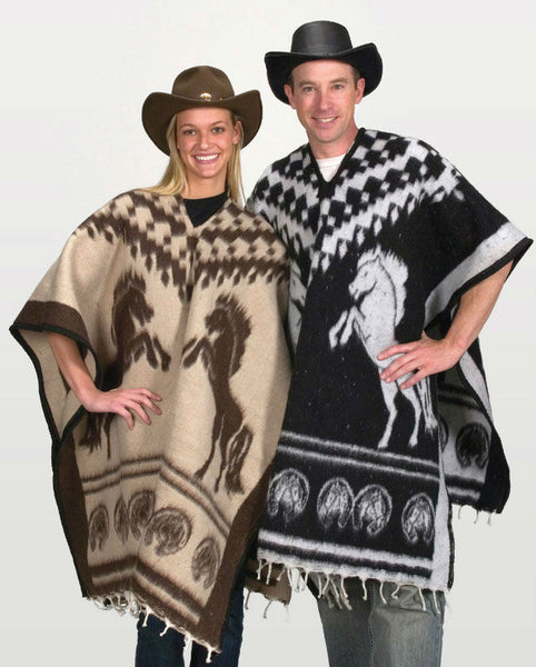 Horses Blanket Western Poncho PON-H