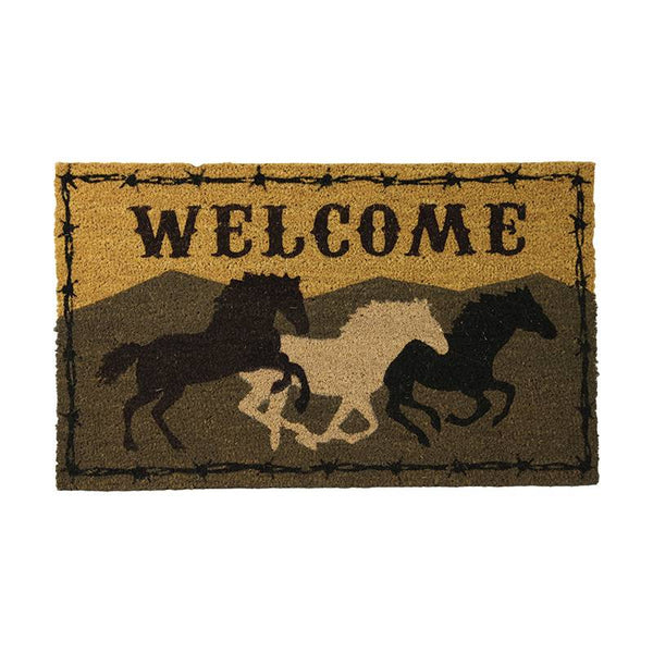 Horses Coir Welcome Mat 2543