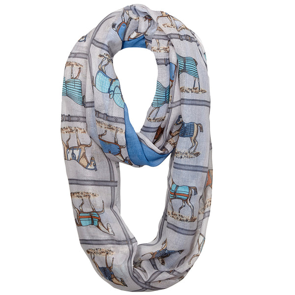Horses In Blankets Infinity Scarf SC-1051
