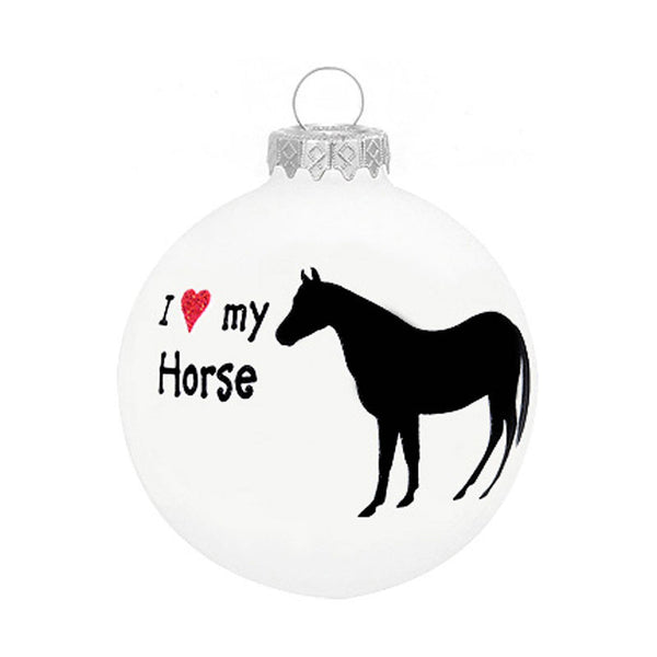 I Love My Horse Glass Ornament 1136239