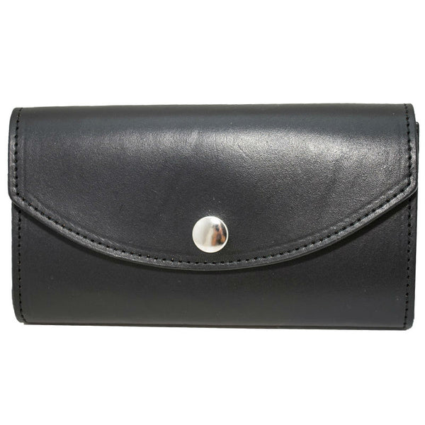 Ladies Black Leather Organizer Wallet LW-707