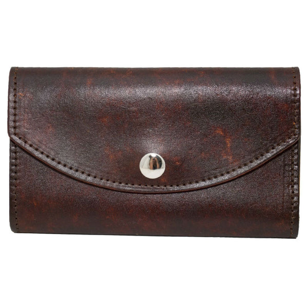 Ladies Brown Leather Organizer Wallet LW-704