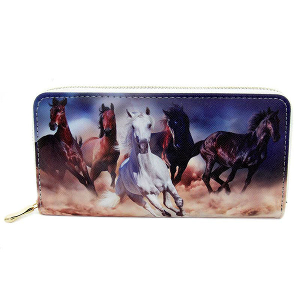 Ladies Running Horses Wallet LW-198