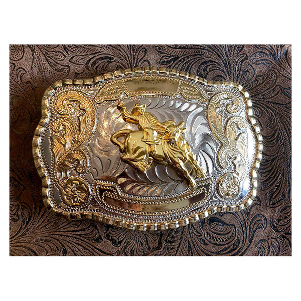 Large Bull Rider Rodeo Buckle BU-168