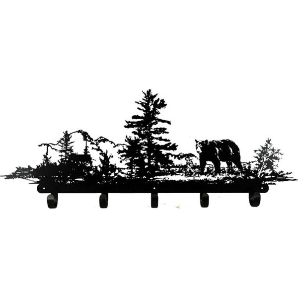 Laser Cut Metal Bear Coat Rack 2004