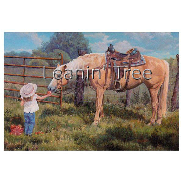 Leanin Tree An Apple A Day Horse Thank You Greeting Card TKT59146