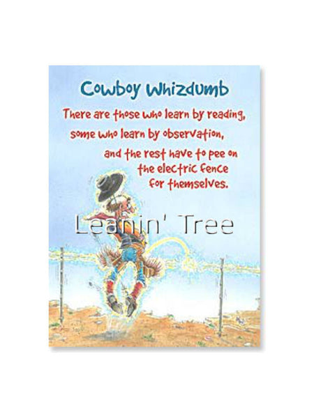 Leanin' Tree Cowboy Whizdumb Birthday Card 14488