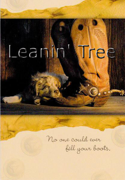 Leanin Tree Fill Your Boots Miss You Greeting Card MYT59477