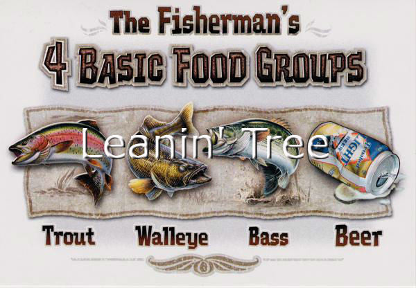 Leanin Tree Fisherman's 4 Basic Food Groups Birthday Card BDT59457