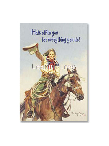 Leanin' Tree Hats Off To You Thank You Card 19961