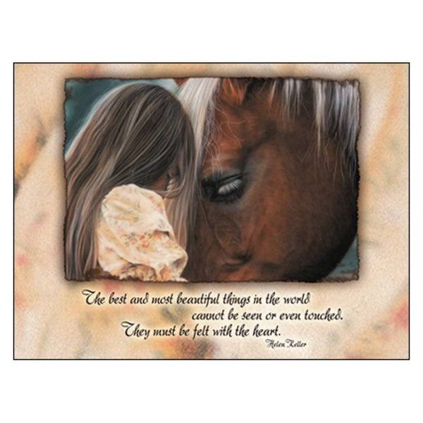 Leanin' Tree In Their Own World Blank Horse Greeting Card 17510