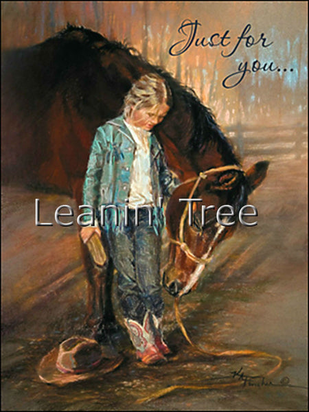 Leanin' Tree Just For You Horse Birthday Card 14808