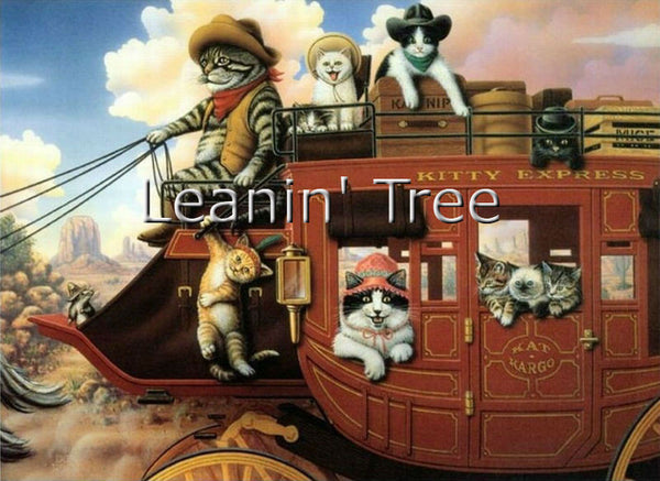 Leanin' Tree Kitty Express Birthday Card 17231