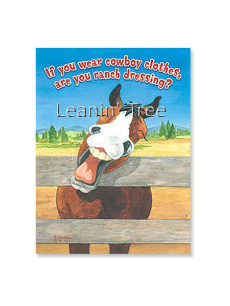 Leanin' Tree Ranch Dressing Cowboy Birthday Card 17675