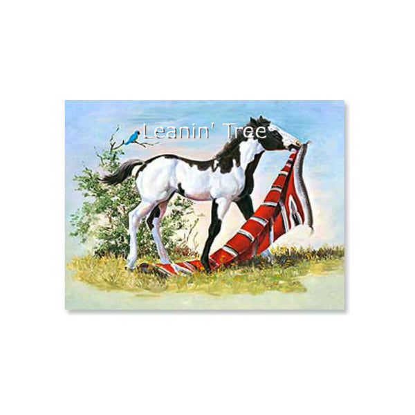 Leanin' Tree Red Carpet Treatment Horse Thank You Card 43673