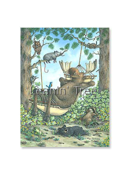 Leanin' Tree Sleeping Moose Birthday of Your Dreams Card 17681