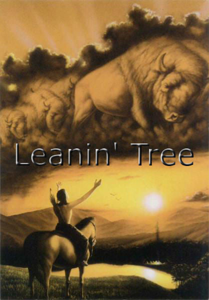 Leanin Tree Spirit of the Buffalo Inspirational Greeting Card 17129