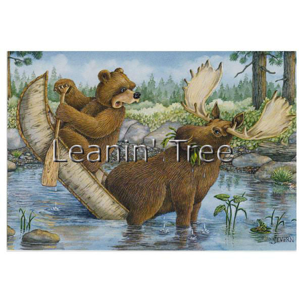 Leanin Tree Tippecanoe Laughing Bear Encouragement Greeting Card ECT59322