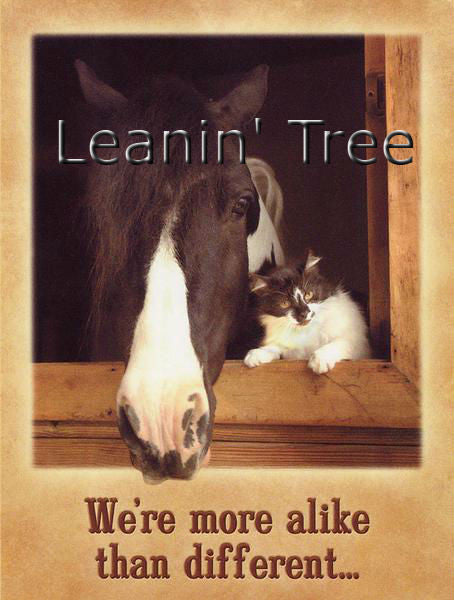 Leanin Tree We're Alike Friendship Greeting Card FRG43624