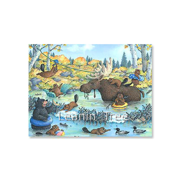 Leanin' Tree Wildlife Party Birthday Card 17073
