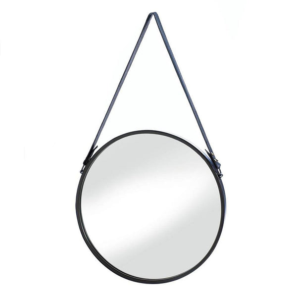Leather Strap Hanging Wall Mirror 10018489