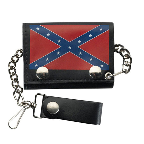 Leather Trifold Stars and Bars Flag Wallet LW-13