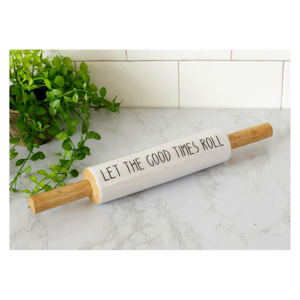 Let The Good Times Roll Kitchen Rolling Pin 8W3182