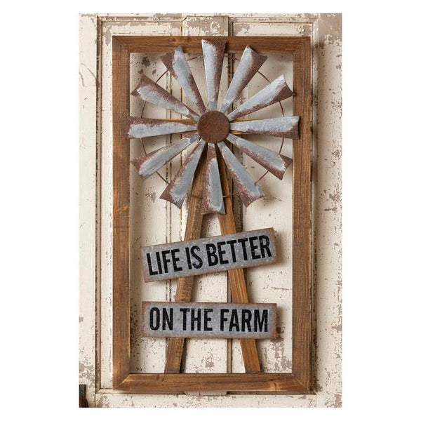 Life Is Better On The Farm Windmill Sign 8W2380