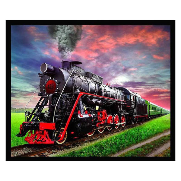 Locomotive Train Fleece Blanket BL-1605