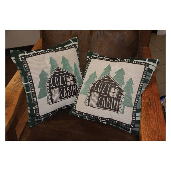 Log Cabin Tapestry Pillows 2601
