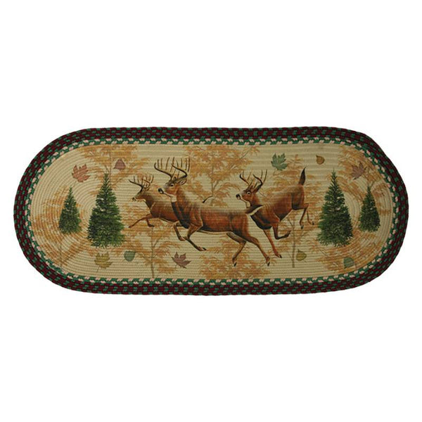Long Oval Braided Deer Rug 2531